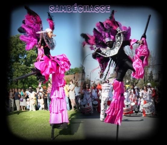 spectacle carnaval sur echassier bresilien